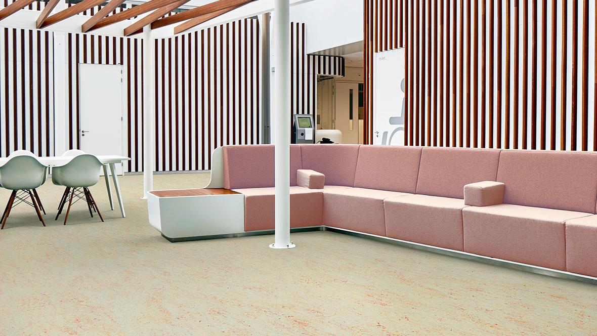 marmoleum obývací pokoj