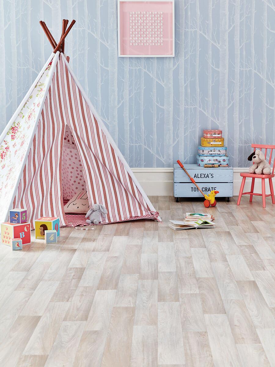Podlaha v dětském pokoji